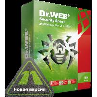 Dr.Web Security Space 12 мес. 1 ПК и моб. устр-во